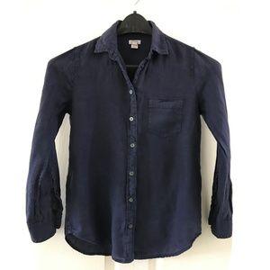 J. Crew XS Petite Linen Long Sleeve Button Shirt